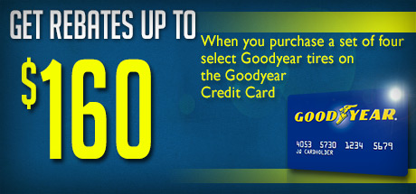 Goodyear & Dunlop Tires - Up to $160 Rebate